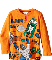 Little Marc Jacobs - Long Sleeve Superhero Illustration Tee Shirt (Toddler/Little Kids)
