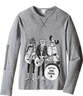 Little Marc Jacobs - Long Sleeve Rock House Illustration Tee Shirt (Big Kids)