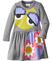 Fendi Kids - Long Sleeve Fit and Flare Dress w/ Monster Eye Graphic (Toddler)