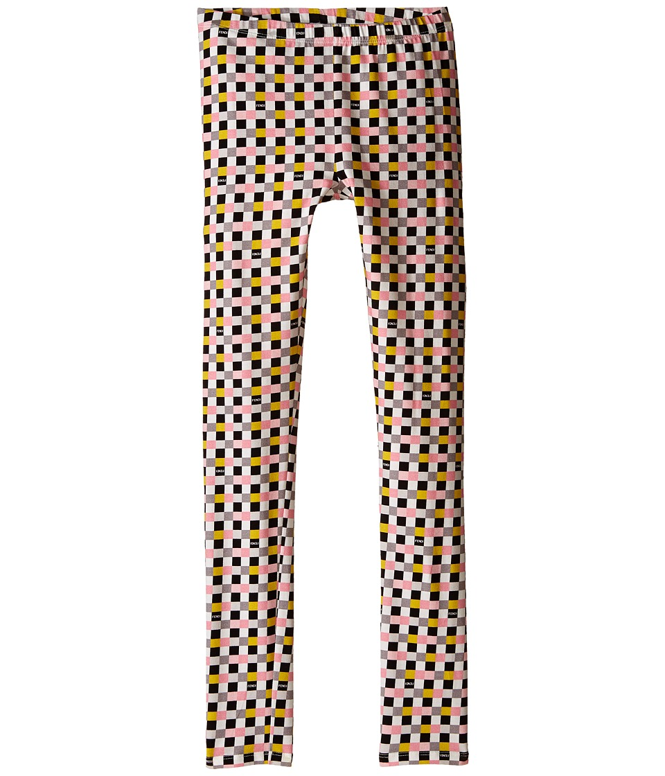 Fendi Kids - Checker Print Leggings