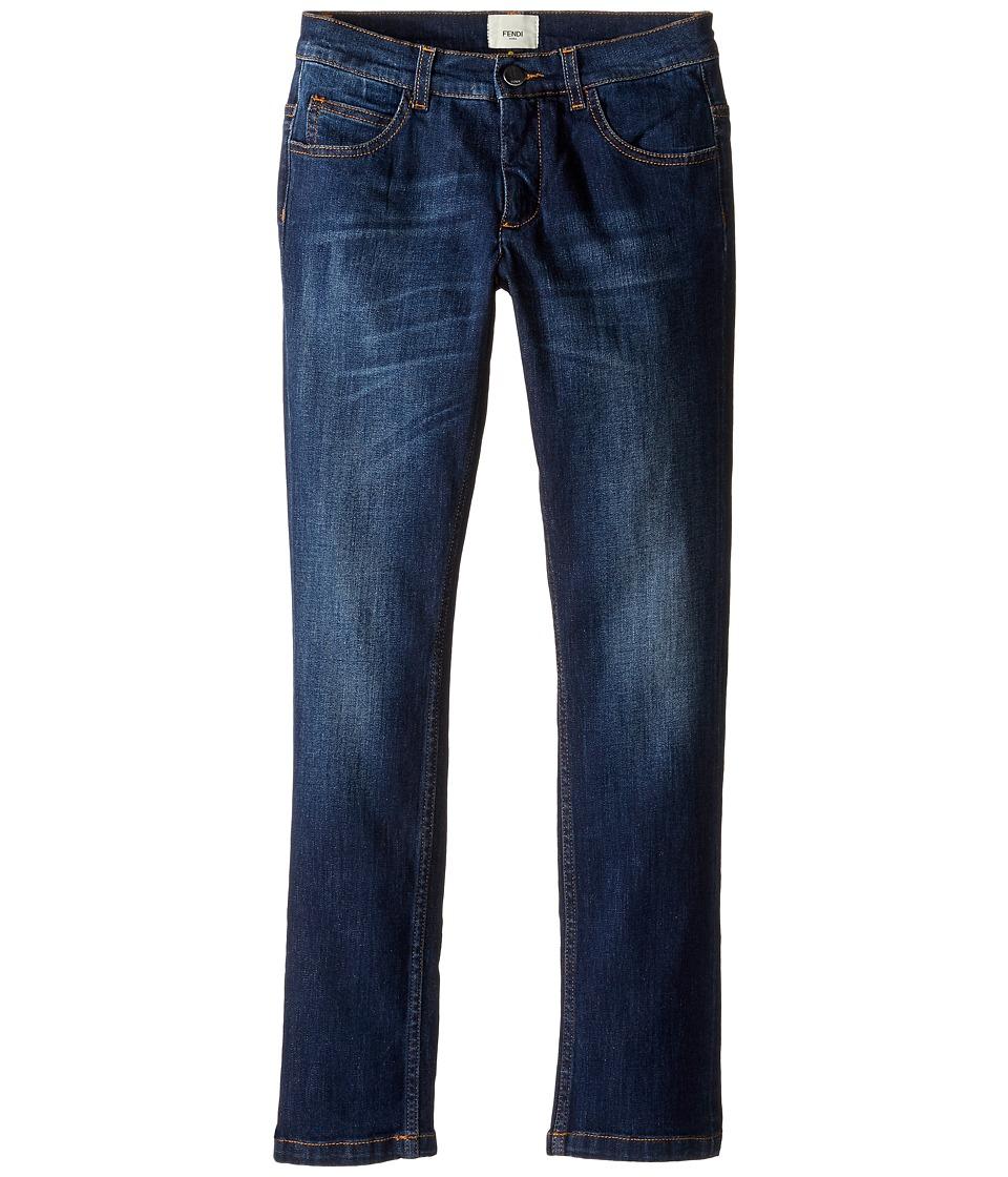 Fendi Kids - Denim Pants w/ Monster Logo Back Pocket