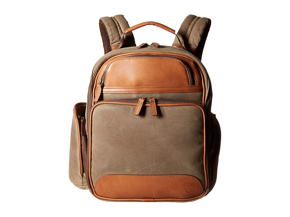 Allen-Edmonds - Canvas/Leather Backpack (Olive) Backpack Bags