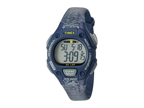 Timex Ironman® Classic 30 Mid-Size Resin Strap - Blue/Gray Accent