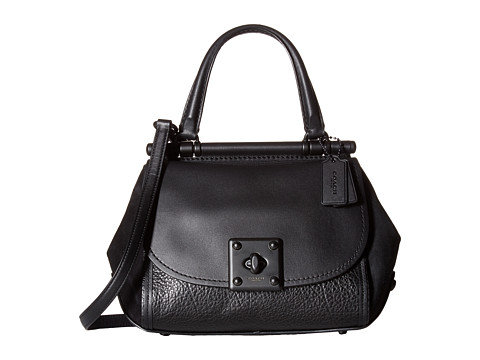 COACH Mixed Leather Drifter Top-Handle - MW/Black