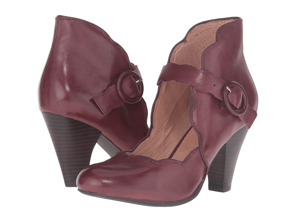 1940sStyleShoes Miz Mooz - Carissa Wine Womens Maryjane Shoes $139.95 AT vintagedancer.com