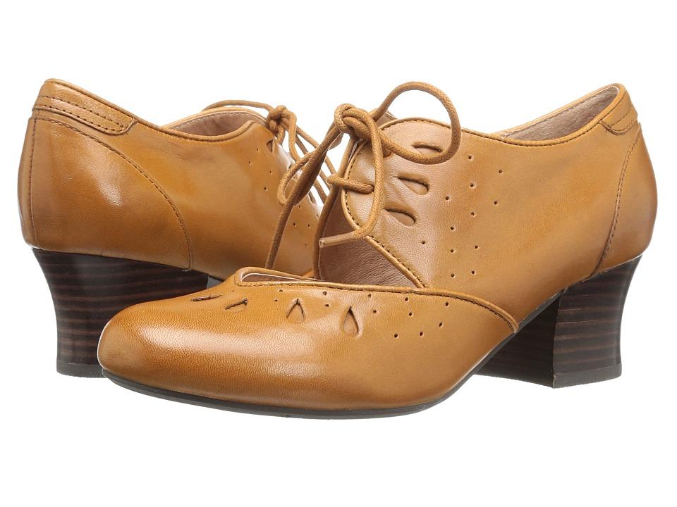 1920s Style Shoes Miz Mooz - Fordham Ochre Womens Shoes $104.99 AT vintagedancer.com