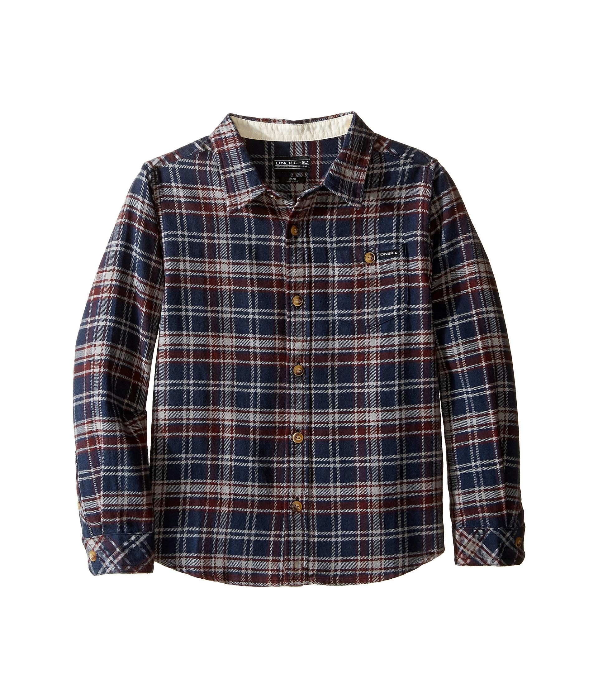 O'Neill Kids Redmond Flannel Shirt (Little Kids) Dark Navy ...