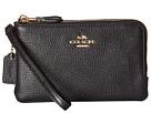 Polished Pebbled Leather Double Corner Zip Bag