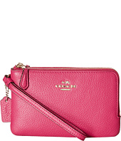 COACH - Polished Pebbled Leather Double Corner Zip Bag