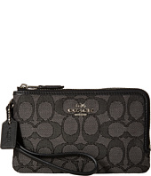 COACH - Signature Double Corner Zip Bag