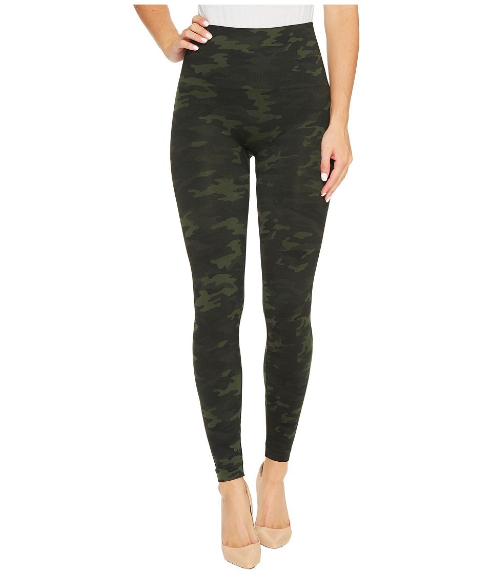 Spanx Seamless Print Leggings (Green Camo) Women's Clothing