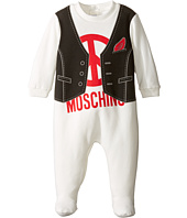 Moschino Kids - Vest Print Footie w/ Logo (Infant)