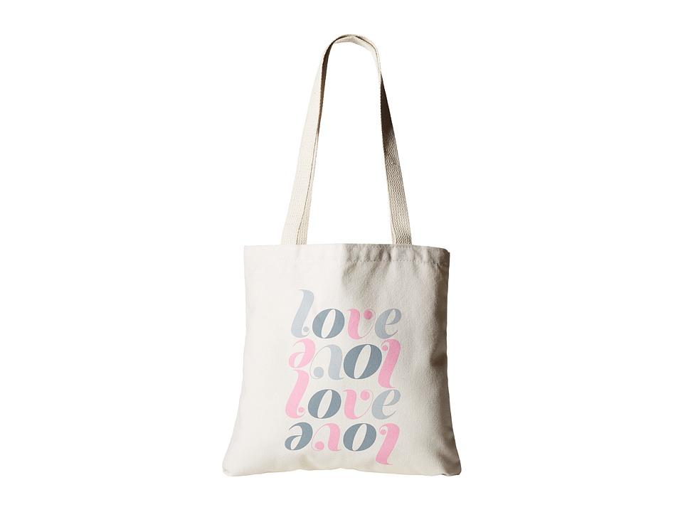 Dogeared - Love Love Lil' Tote (Canvas) Tote Handbags