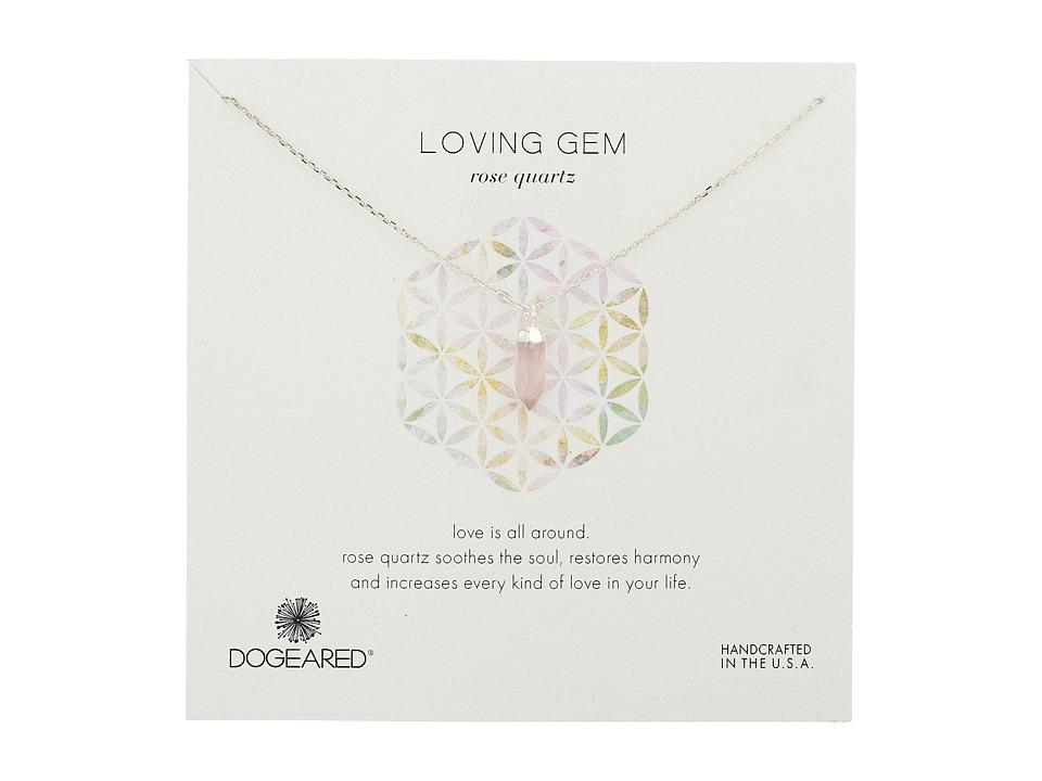 Dogeared - Loving Gem Rose Quartz Necklace (Sterling Silver/Rose) Necklace