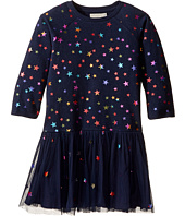 Stella McCartney Kids - India Star Print Knit Dress w/ Tulle Skirt (Toddler/Little Kids/Big Kids)