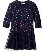 Stella McCartney Kids - India Star Print Knit Dress w/ Tulle Skirt (Toddler/Little Kids/Big Kids)