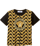Versace Kids - Short Sleeve Tee with All Over Print and Medusa Logo (Infant/Toddler)