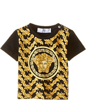 Versace Kids - Short Sleeve Tee with All Over Print and Medusa Logo (Infant)