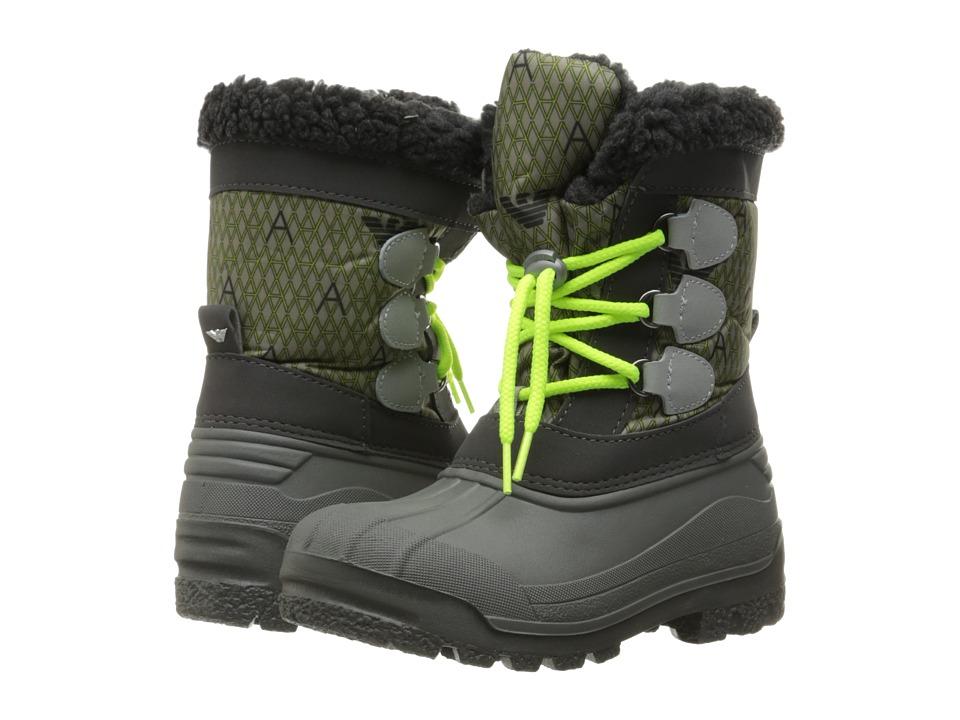 Armani Junior Snow Boot (Toddler/Little Kid/Big Kid) (Alloy) Boys Shoes
