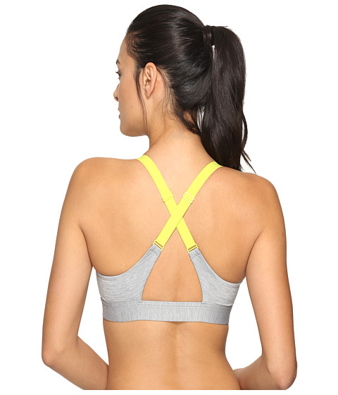 Under Armour UA Eclipse Heather Mid Bra - True Gray Heather/Smash Yellow