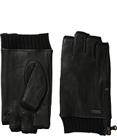 John Varvatos Star U.S.A. - Fingerless Gloves w/ Side Zip