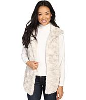 Dylan by True Grit - Plush Faux Classic Silky Fur Hood Vest w/ Fur Lining