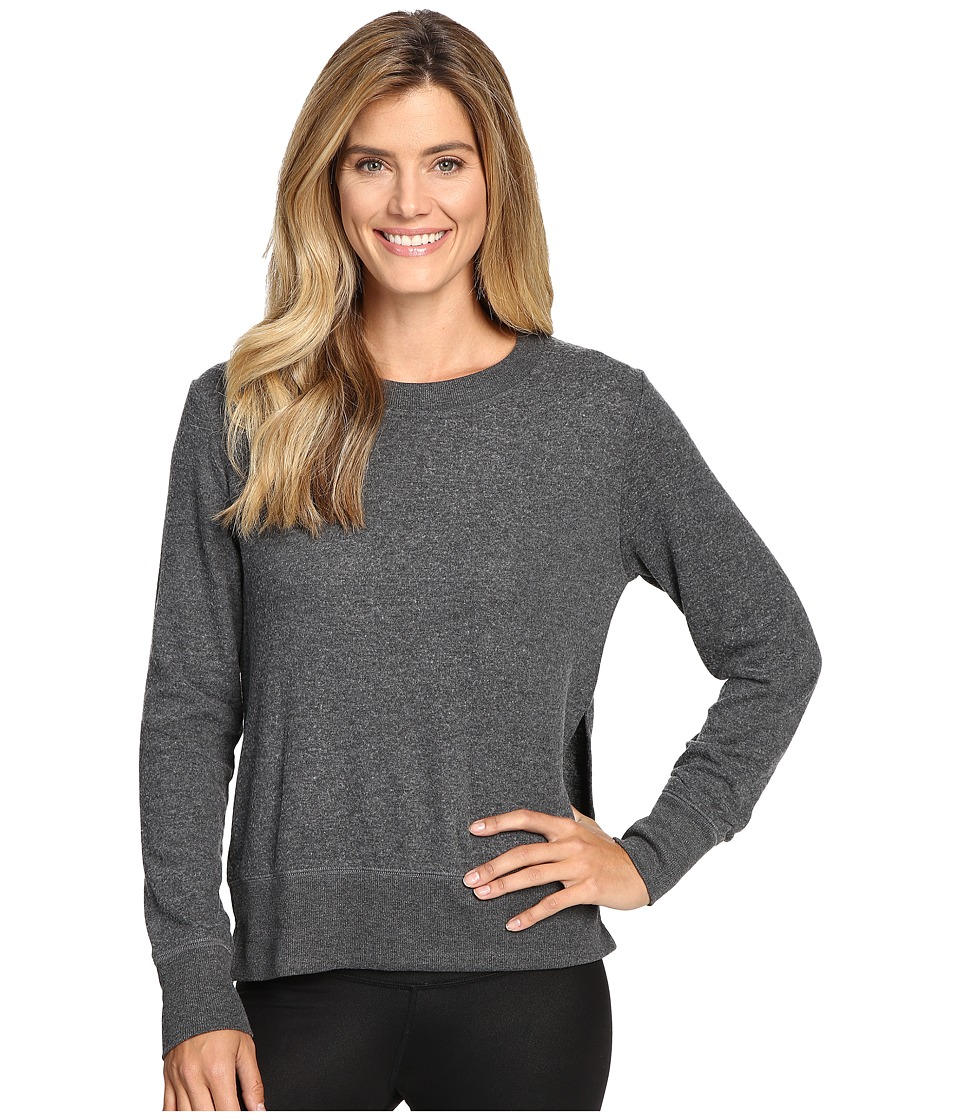 ALO Glimpse Long Sleeve Top (Charcoal Heather) Women