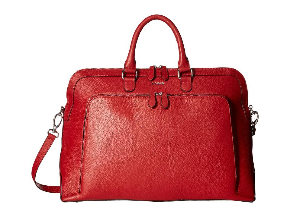 Lodis Accessories Haven Brera Briefcase w/ Laptop Pocket (Red) Briefcase Bags