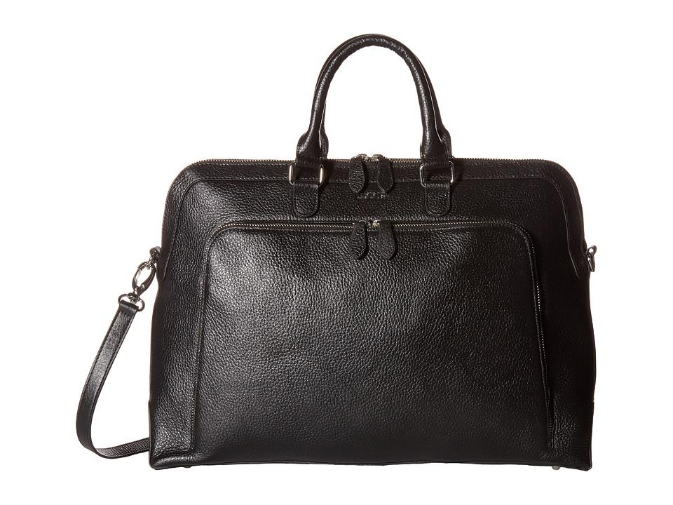 Lodis Accessories Haven Brera Briefcase w/ Laptop Pocket (Black) Briefcase Bags