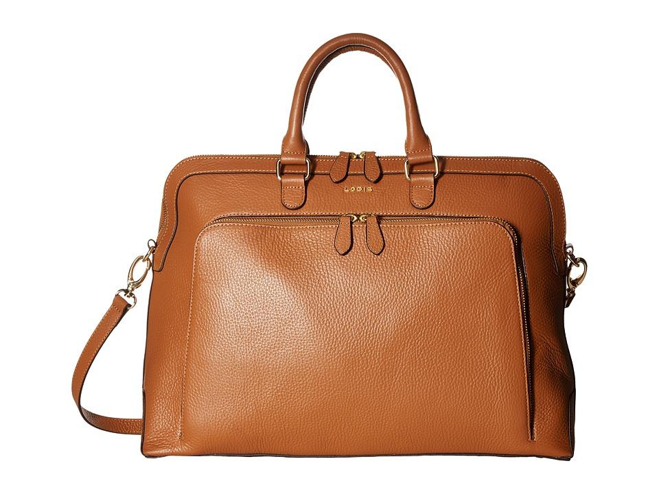 Lodis Accessories Haven Brera Briefcase w/ Laptop Pocket (Toffee) Briefcase Bags