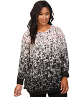 Vince Camuto Plus - Plus Size Long Sleeve Shadow Textures Blouse