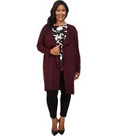 Vince Camuto Plus - Plus Size Long Sleeve Drape-Front Maxi Cardigan