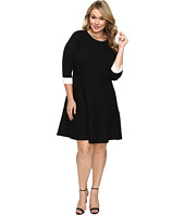 Vince Camuto Specialty Size - Plus Size Long Sleeve Flare Sweater Dress