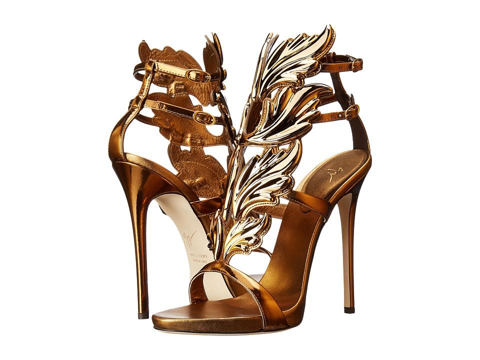 Giuseppe Zanotti High Heel Winged Sandal Bronze Womens Shoes