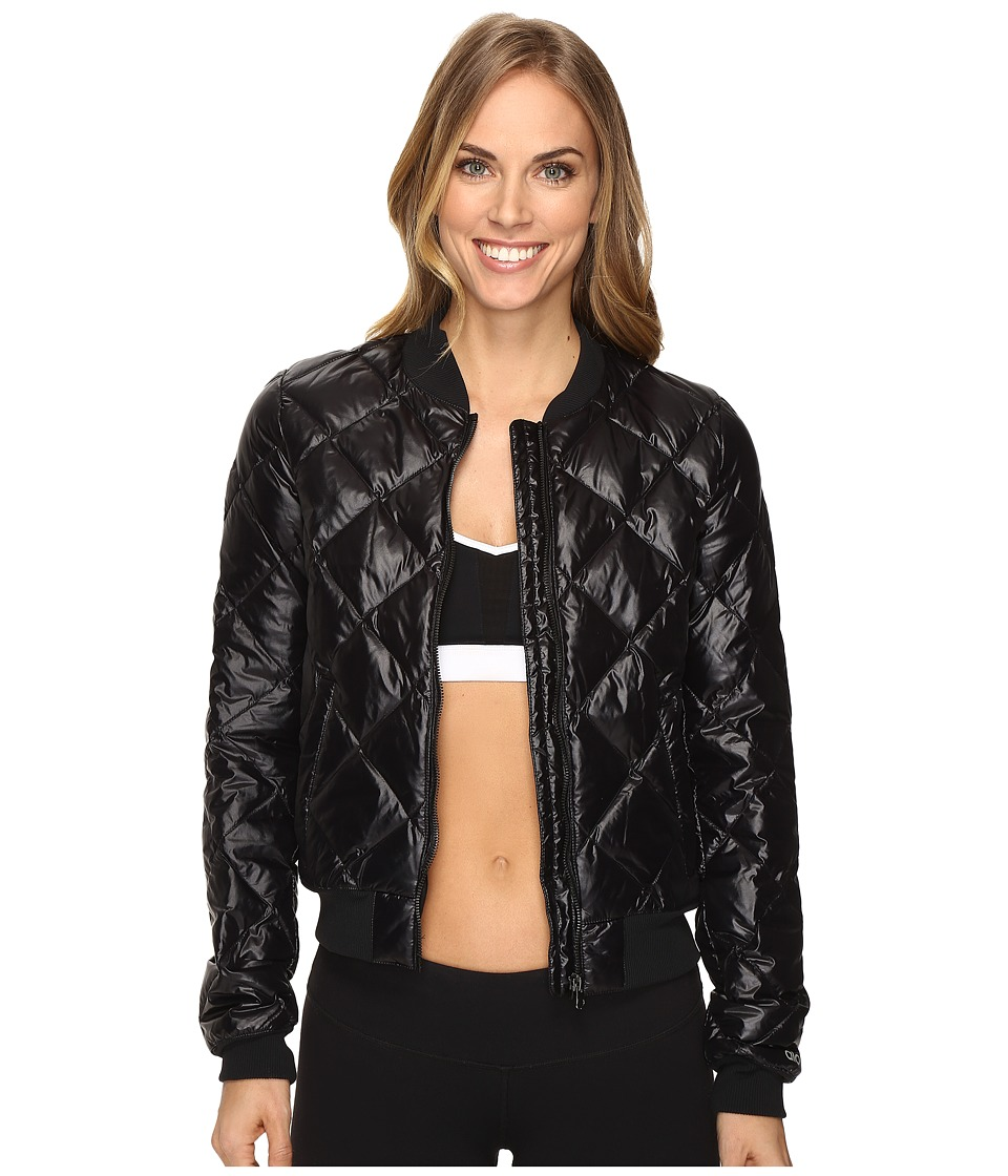 Alo Idol Bomber Jacket (Black) Women's Coat