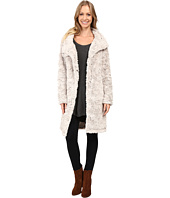 Dylan by True Grit - Plush Faux Classic Silky Fur Long Snap Jacket
