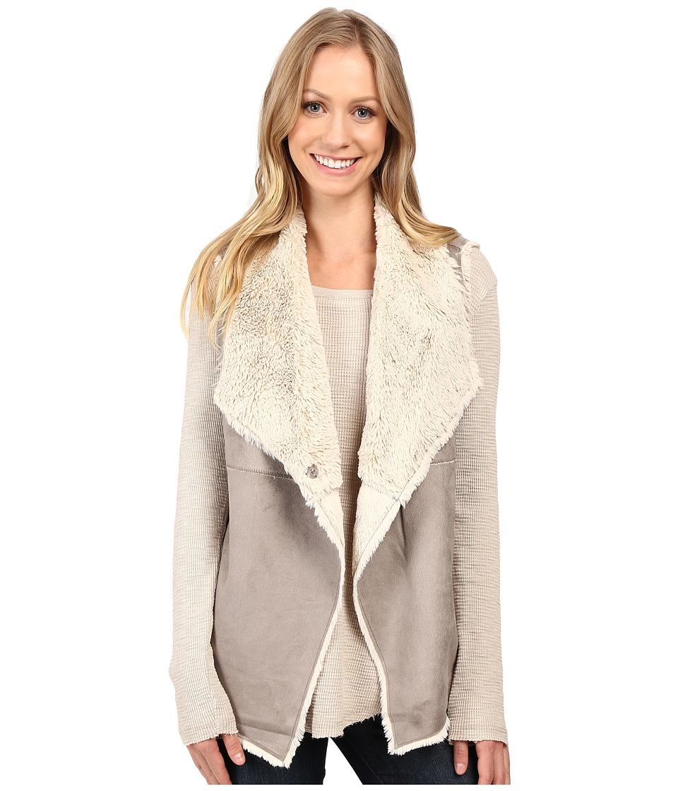 Dylan by True Grit - Madison City Faux Sueded Shearling Snap Vest