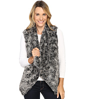 Dylan by True Grit - Plush Faux Classic Silky Fur Draped Vest w/ Fur Lining