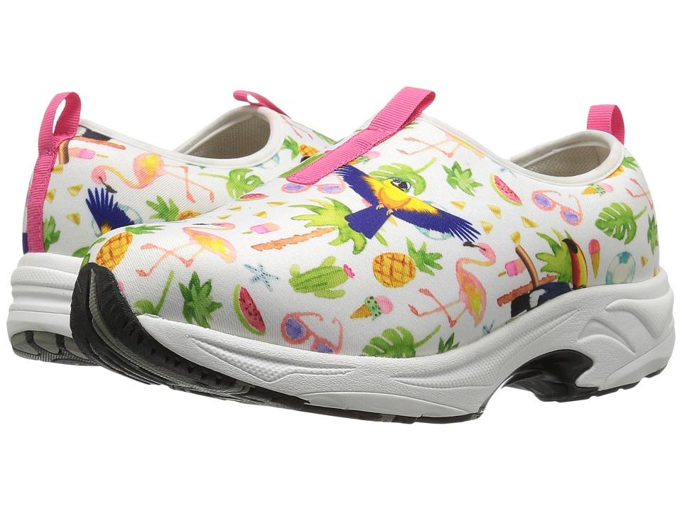 Drew Blast (Flamingo Print) Women's Slip on  Shoes