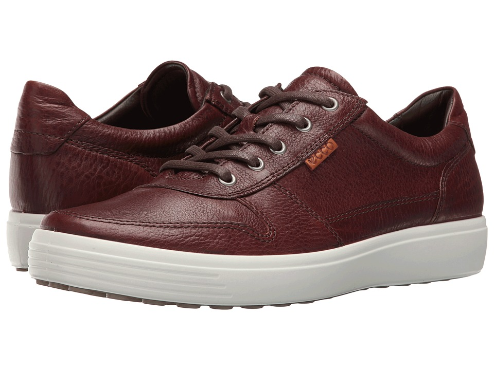 Ecco Soft 7 Casual Tie (Whisky/Lion) Men's Lace up casual...