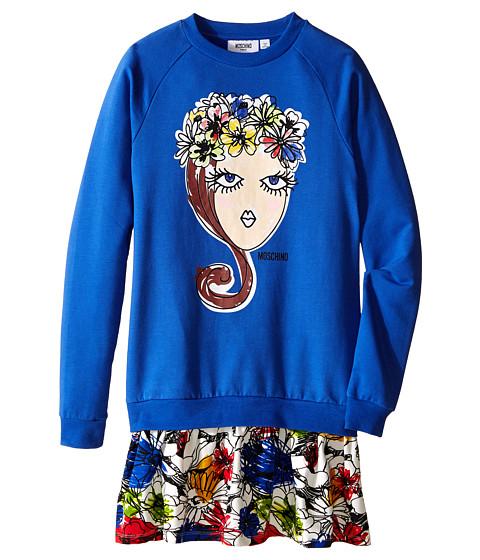 Moschino Kids Flowers Crown Dress (Big Kids)