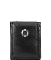 Steve Madden - Grommet Glazed Leather L-Fold Wallet