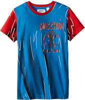 Moschino Kids - Short Sleeve Print Effect Tee Shirt (Big Kids)