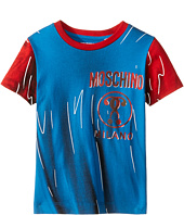 Moschino Kids - Short Sleeve Print Effect Tee Shirt (Little Kids/Big Kids)
