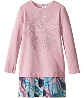 Versace Kids - Long Sleeve Drop Waist Dress w/ Medusa Design (Toddler/Little Kids)