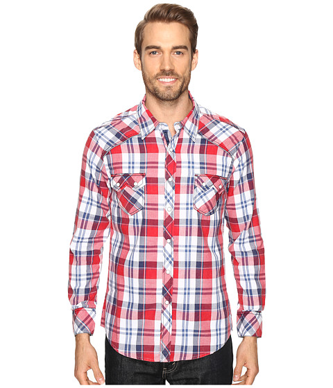 Rock and Roll Cowboy Long Sleeve Snap B2S8419 - Red