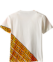 Versace Kids - Short Sleeve Logo Greche Tee (Big Kids)