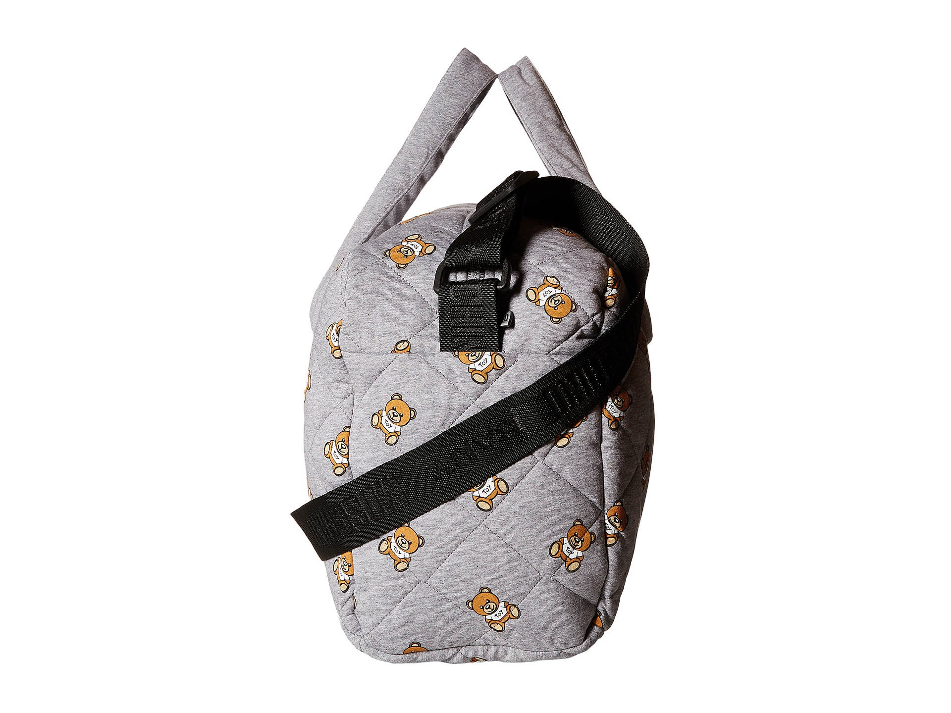 Kids Diaper Bag : Moschino kids jersey quilted diaper bag w all over teddy