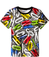 Moschino Kids - Short Sleeve All Over Printed Tee Shirt (Little Kids/Big Kids)