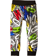 Moschino Kids - Sweatpants w/ All Over Letters & Scribbles (Infant/Toddler)
